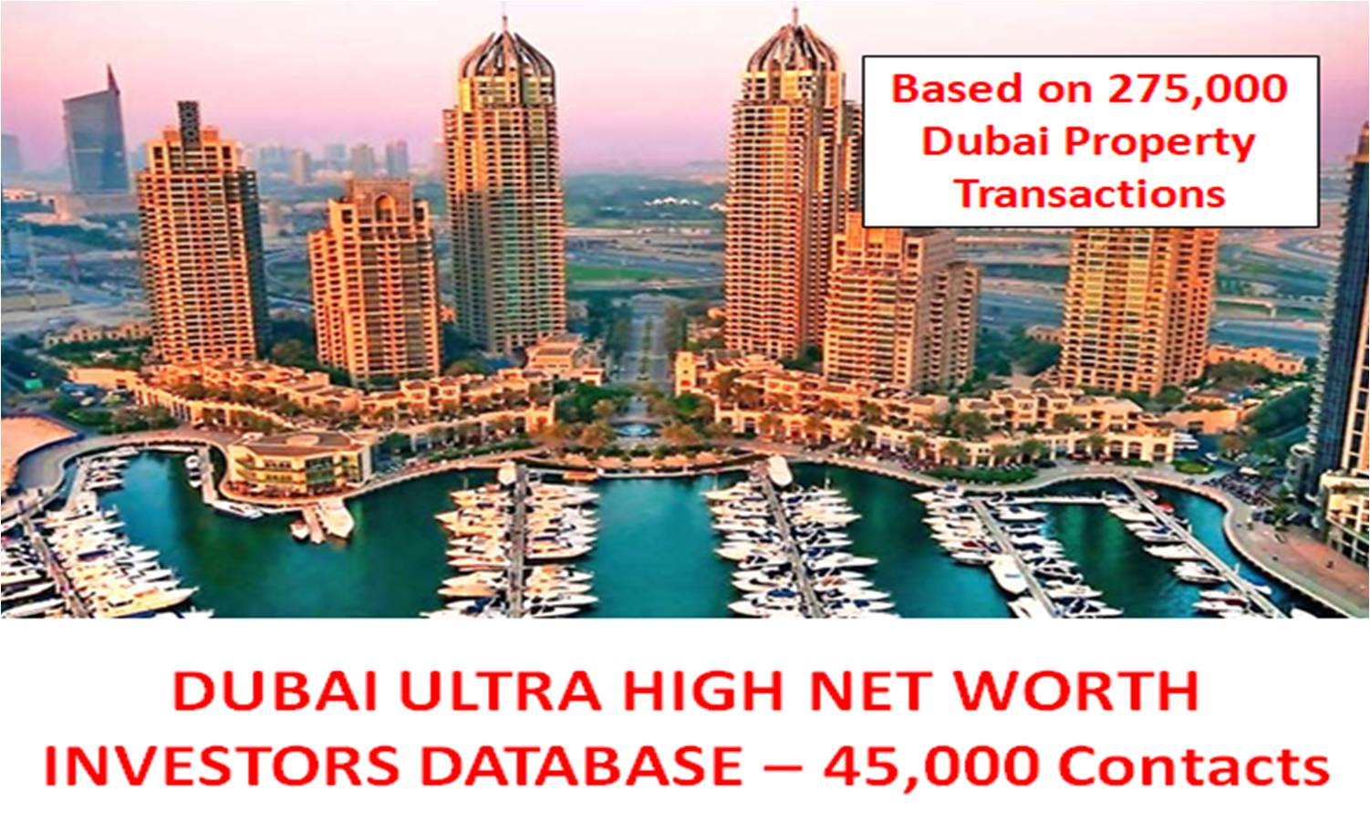 Dubai Ultra High Net Worth Investors List