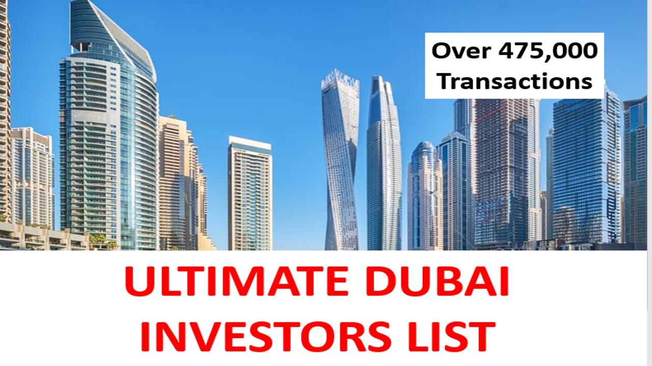 Ultimate Dubai Investors List