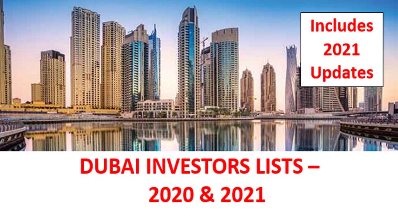 Dubai 2021 & 2021 Investor Lists